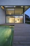 Modern house. A summer night Stock Images