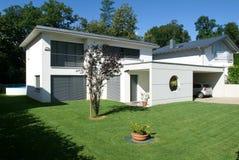 Modern house. Arasio, Switzerland - 4 July 2007: modern house Royalty Free Stock Photography
