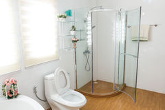 Modern house bathroom interior Stock Photography