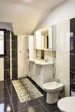 Modern house bathroom interior Royalty Free Stock Photography