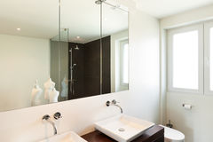 Modern house, bathroom Royalty Free Stock Images