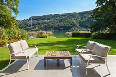 Modern house, beautiful veranda Royalty Free Stock Photography