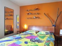 Modern house, bedroom Stock Photo