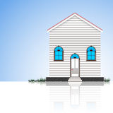 Modern house and blue sky Stock Photo