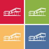Modern house building, colorful real estate Royalty Free Stock Photos