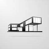Modern house building, real estate icon Stock Photo