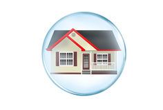 Modern house button Stock Photography