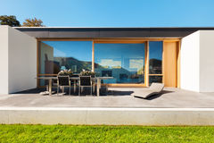 Modern house in cement Stock Photos