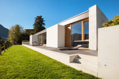 Modern house in cement royalty free stock image