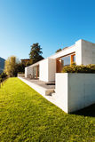 Modern house in cement Royalty Free Stock Photos