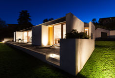 Modern house in cement Stock Photography