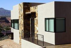 Modern house in desert mesa Royalty Free Stock Images