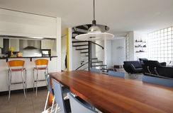 Modern house, dining-room Stock Images