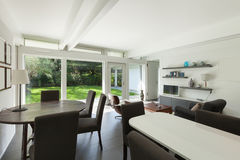 Modern house, dining room Stock Image