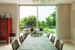 Modern house, dining room Royalty Free Stock Photo
