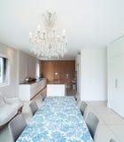 Modern house, dining room Stock Photo