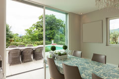Modern house, dining room Stock Photography