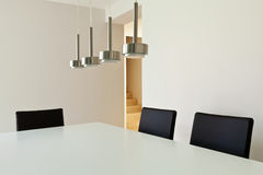 Modern house, dining table Stock Photo