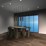 Modern House - Diningroom Stock Photo