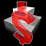Modern house and DOLLAR sign Stock Photo