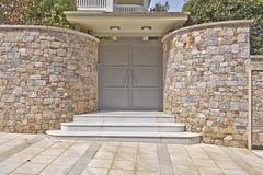 Modern house door Royalty Free Stock Photo