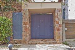 Modern house entrance, Athens Greece Royalty Free Stock Photos