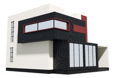 Modern house exterior 3d Stock Image