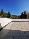 Modern house exterior empty rooftop, nature view Stock Photography