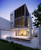 Modern House Exterior Vector Illustration