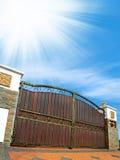 Modern house gate Stock Photos