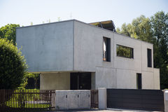 Modern house in germany Royalty Free Stock Photography