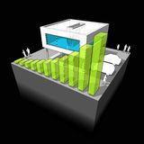 Modern house + green business diagram Royalty Free Stock Photo