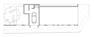 Modern House Ground Floor Plan Royalty Free Stock Image