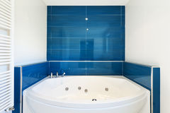 Modern house, hot tub. Interior of bathroom in modern house, hot tub Royalty Free Stock Photo