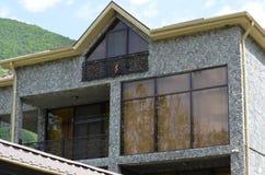 Modern house in Ilisu, a Greater Caucasus mountain village in north-western Azerbaijan