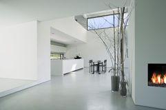 Modern house interior Stock Photos