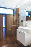 Modern house interior bathroom Stock Images