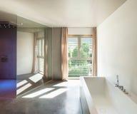 Modern house, interior, bathroom Royalty Free Stock Image
