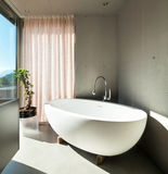 Modern house, interior, bathroom Royalty Free Stock Photos