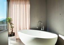 Modern house, interior, bathroom Stock Images