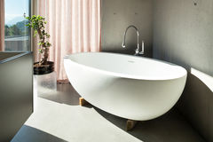 Modern house, interior, bathroom Royalty Free Stock Photography