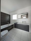 Modern house interior bathroom Royalty Free Stock Photo