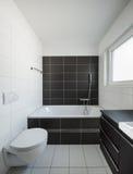 Modern house interior bathroom Royalty Free Stock Photos