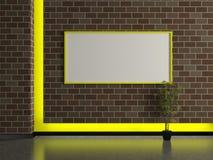 Modern house interior, dark brick wall Stock Photography