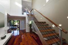 Modern house interior with staircase Royalty Free Stock Photos
