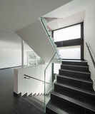 Modern house interior, stairway. Modern house interior empty open space Royalty Free Stock Image