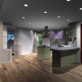Modern House-Kitchen Stock Photos