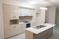 Modern House - Kitchen. Complete with separate sink stock image