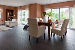 Modern house, living-room Stock Photo