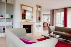 Modern house, living-room Royalty Free Stock Photos
